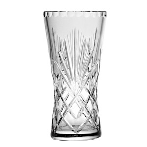Cut Crystal Decorated And Coloured Glass Vases